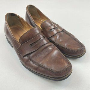 Johnston & Murphy Brown Dress Penny Loafers 9.5